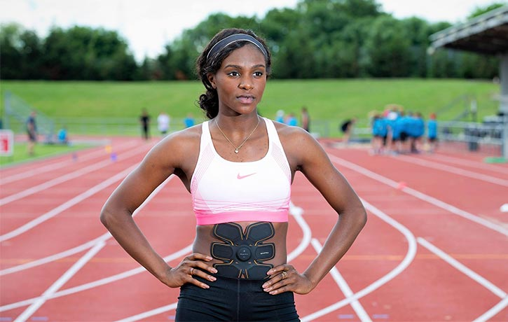 Dina Asher-Smith -Sixpad - Keep Fit Kingdom