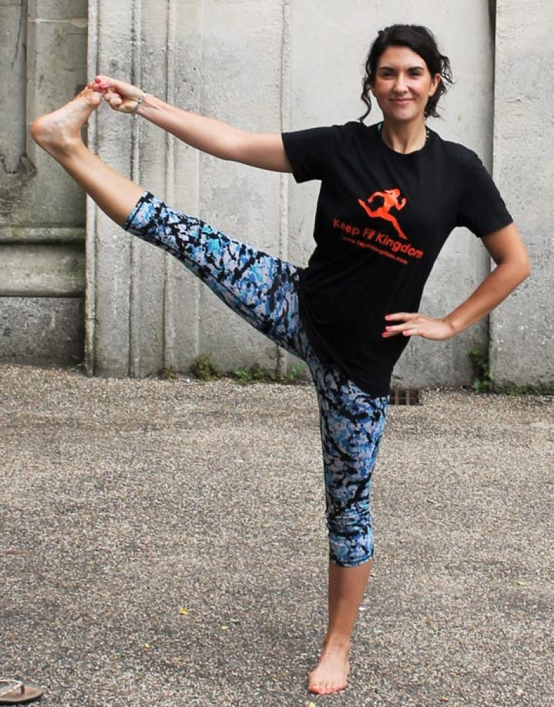 Kayleigh Yoga teacher journo for Keep Fit Kingdom