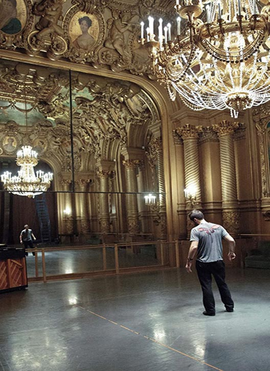 Benjamin Millepied choreographing in quiet contemplation
