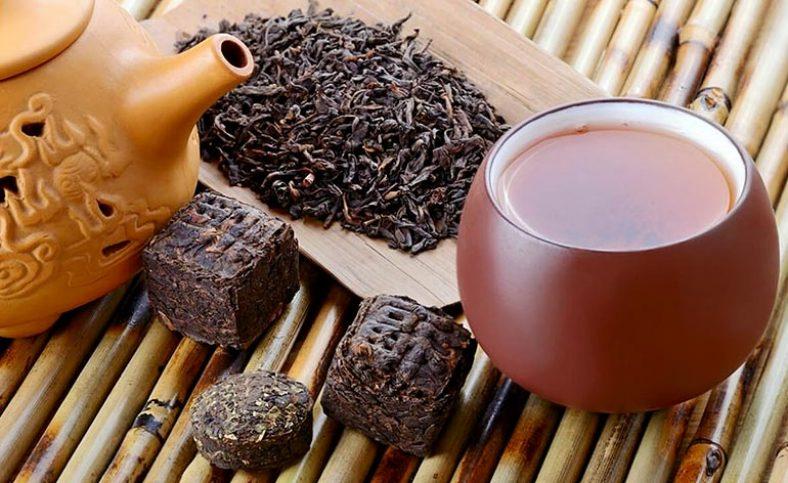 Заварка чая пуэр