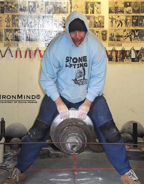 David Horne pinch grip World Record