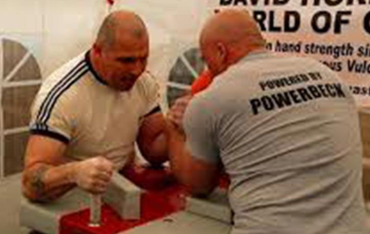 David arm wrestling