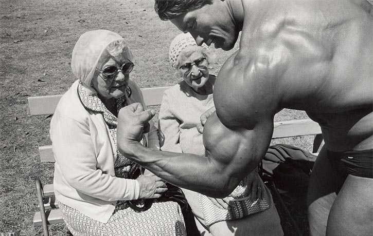 Arnold Schwarzenegger impresses even the elders