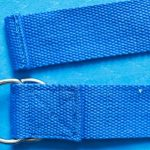 Yoga strap with reinforced stitching