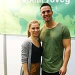 Vegan fitness vlogger Jon Venus and a fan