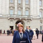At Buckingham Palace -for Tea with the Queen