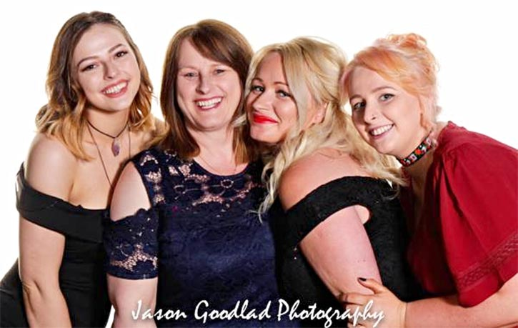 Debs and her 3 daughters