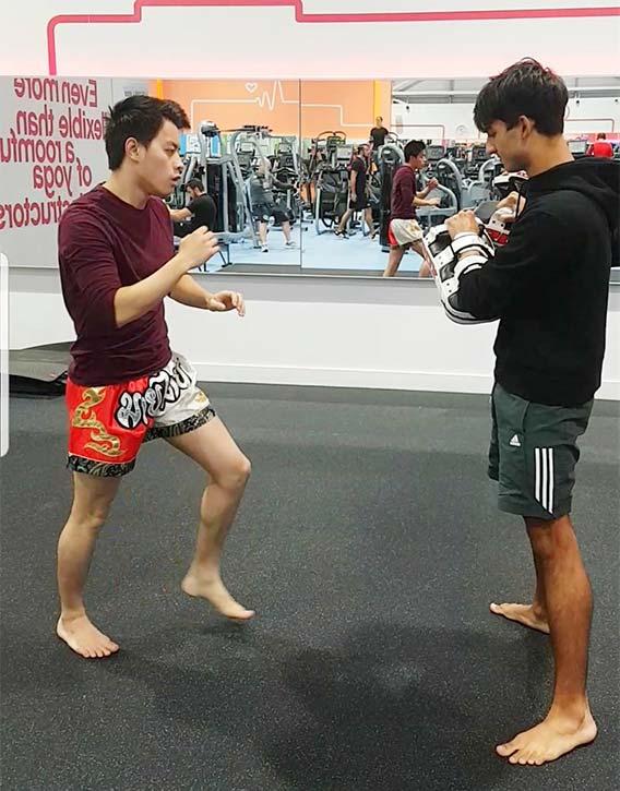 Andrew Yau overcomes shyness by kicking it!