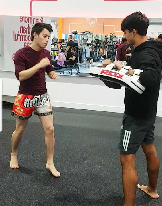 Kickboxing is one of the ways to knock shyness out!