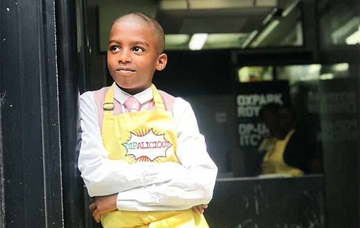 Omari has dreams of being a major vegan chef