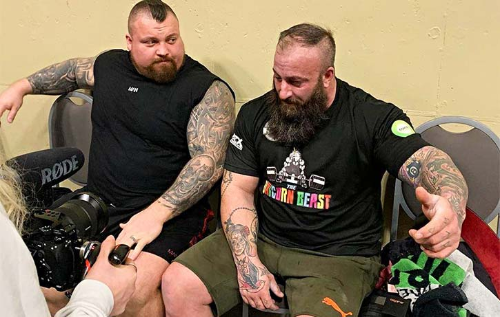 Backstage with Eddie Hall at the Arnold Classic Ohio 2020