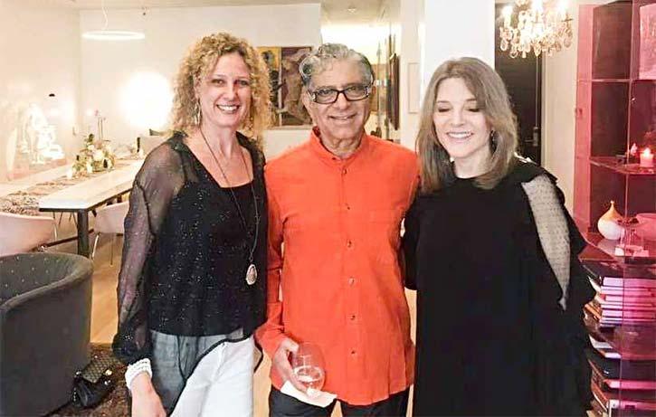 Alexis Brink at dinner with Deepak Chopra