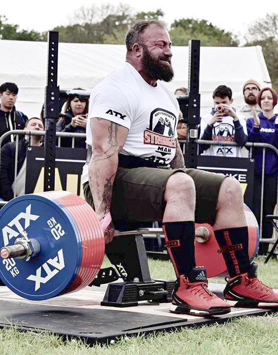 Martin Tye lifting 505kg in North Somerset 2019