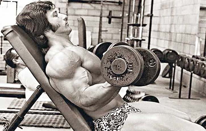 Frank doing seated curls