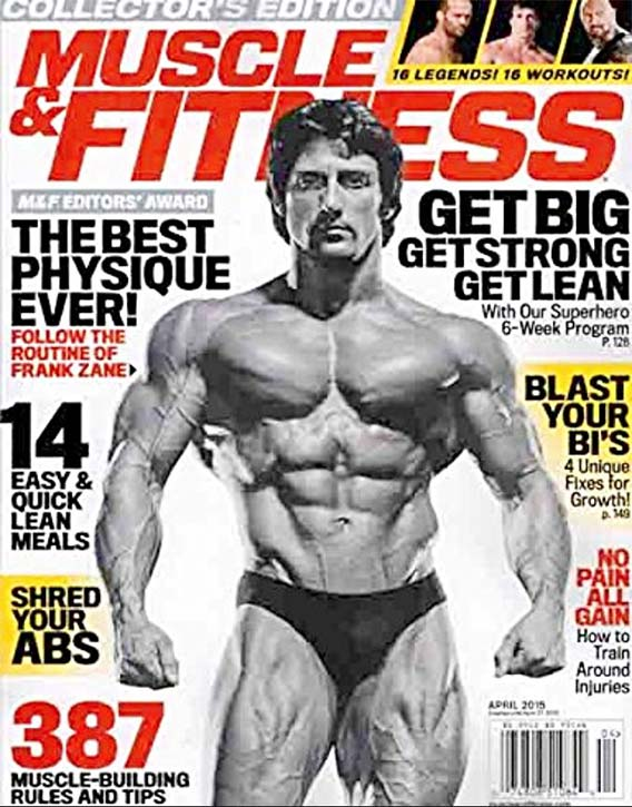 On the cover of Muscle and Fitness