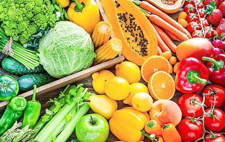 Whole foods mean plenty of fruits and vegetables